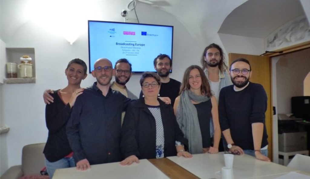 3rd transnational meeting of the european project Broadcasting Europe in south of Italy with all european partners